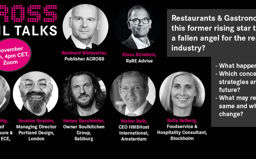 Across Retail Talks online, November 12, 4pm (cet)