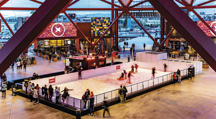X-Madrid Unveils Natural Ice Rink