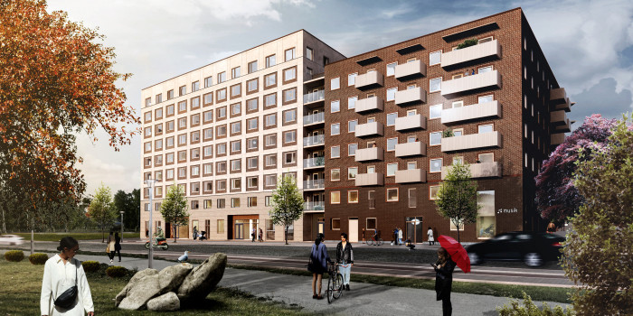Skanska Invests in Rental Apartments in Barkarbystaden