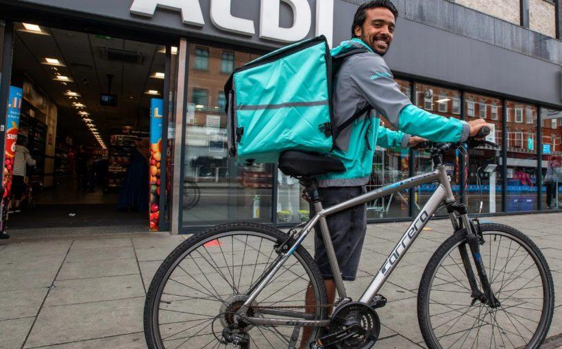 Man eco bike delivery
