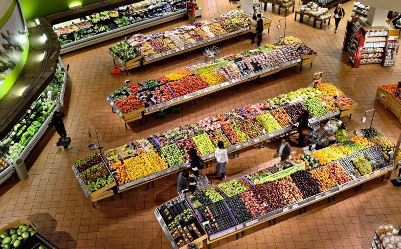 Supermarket, fruit section