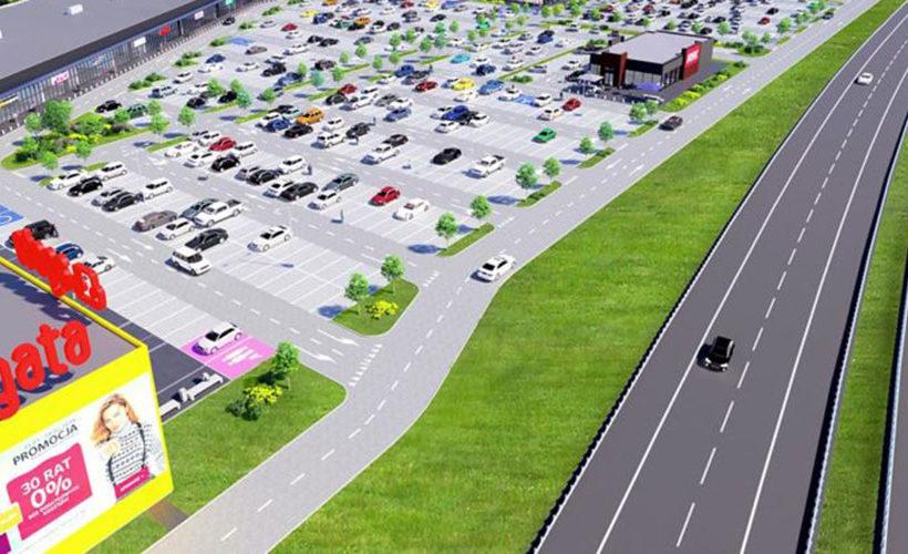 Acteeum regional retail park, Koszalin Power Center in Poland, attracts big brands