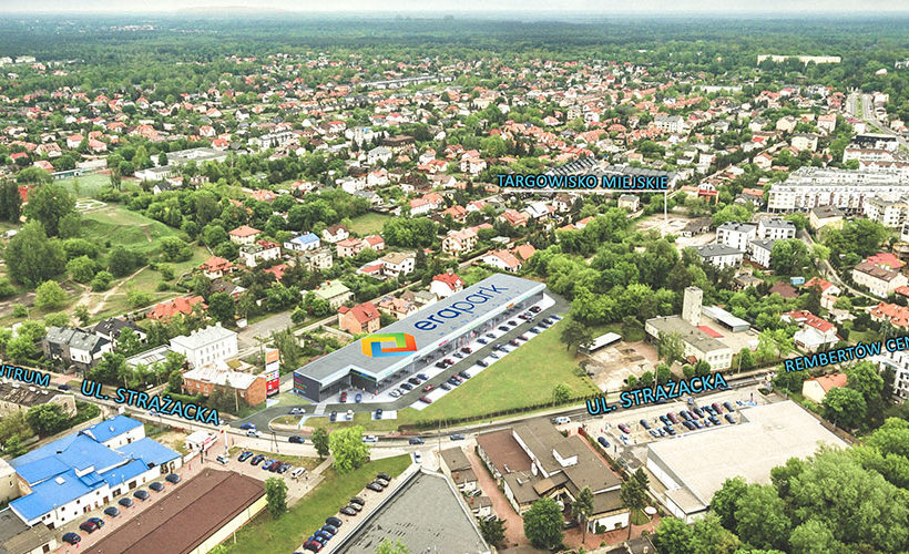 Advanced works are underway on the construction of Era Park Rembertów in Warsaw